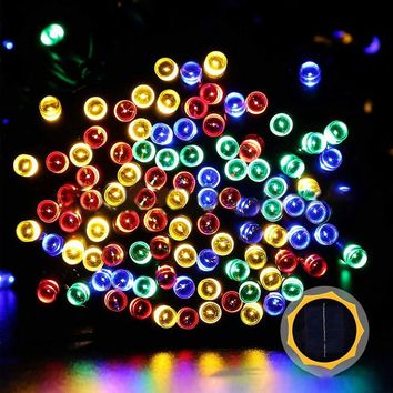 7M Solar Powered 50 LED String Light Christmas Star Festive Outdoor Decoration Waterproof Fairy Lamp LED Holiday Lights