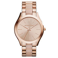 Michael Kors Slim Runway Rose Gold & Blush 3-Hand Watch