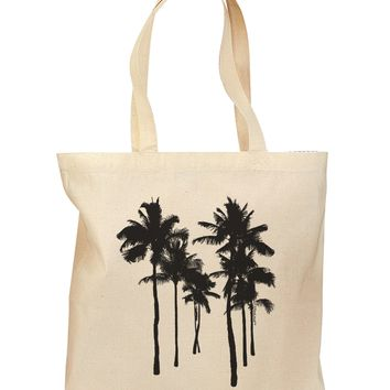 Palm Rows Silhouette Grocery Tote Bag - Natural