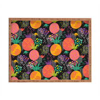 Zoe Wodarz Midnight Pineapple Rectangular Tray