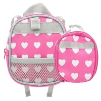 Doll Clothes Fits American Girl & Other 18 Inch Dolls Backpack Lunch Bag Pink