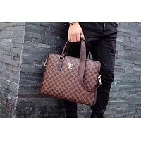 LV Louis Vuitton MEN'S LEATHER BRIEFCASE BAG CROSS BODY BAG