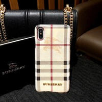 Burberry Tide brand iPhone7plus mobile phone case cover