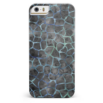 Black and Blue Watercolor Giraffe Pattern iPhone 5/5s or SE INK-Fuzed Case
