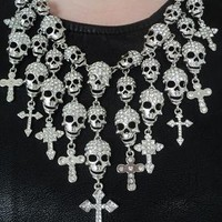 Crystal Skull Statement Necklace from Olivia Divine