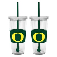 Oregon Ducks 2-pc. Double-Walled Straw Tumbler Set (Uoo Team)