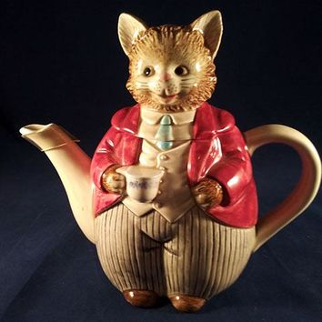 Vintage Otagiri Mr Whiskers Cat Teapot