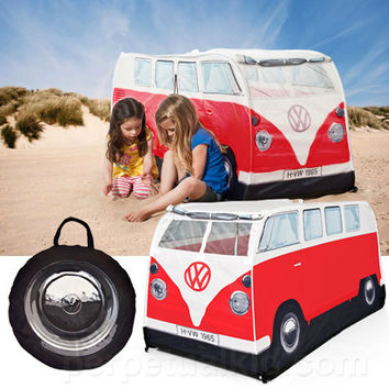 CLASSIC RED VW CAMPER PLAY TENT