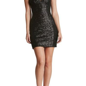 Dress the Population 'Sam' Plunge Sequin Body-Con Dress | Nordstrom