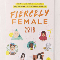 2018 Fiercely Female 12-Month Wall Calendar   Urban Outfitters