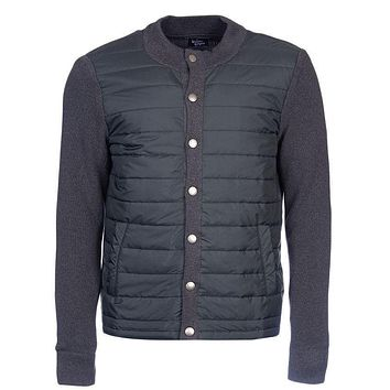 Bale Baffle Button Through Jacket in Charcoal by Barbour