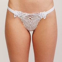 Free People Lace Me Up Thong