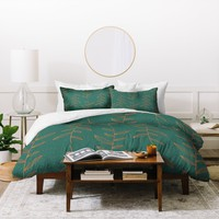 Gabi Of The Vine Blue Duvet Cover