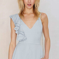 Light Blue Asymmetric Romper