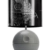 Star Wars 3D Death Star Desktop LED Lamp Light with Printed Fight Scene Shade