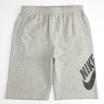 Nike Sb Swoosh Boys Sweat Shorts Charcoal  In Sizes