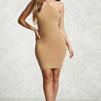 Ribbed Halter Bodycon Dress