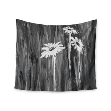 "Brienne Jepkema ""Daises"" Gray Flowers Wall Tapestry"