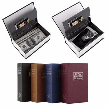 ac DCCKO2Q LESHP Modern Simulation Dictionary Secret Book Hidden Security Safety Lock Cash Money Jewelry Cabinet Size Book Case Storage Box