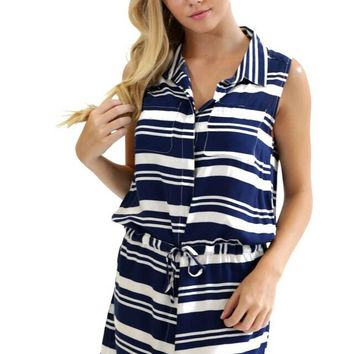 Renee Button Front Dress- Navy