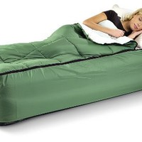 Guide Gear Twin Air Bed Fitted Cover / Sleeping Bag Green