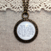 Mumford and Sons Below My Feet Inspired Lyrical Quote Necklace
