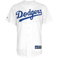 Majestic L.A. Dodgers White Replica Baseball Jersey