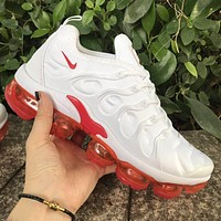 Nike Air Max Vapormax Plus Popular Women Air Cushion Sport Running Shoes Sneakers White&Red