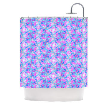 "Ebi Emporium ""Seeing Stars"" Blue Pink Shower Curtain"