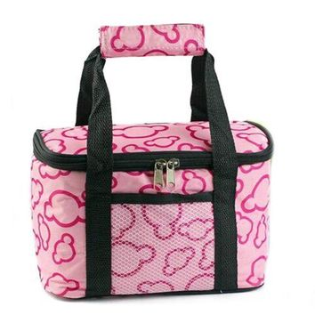 Waterproof Lunch Bag Thick large size 24*13*14.5cm Kitchen Pink