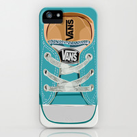 Cute blue teal Vans all star baby shoes iPhone 4 4s 5 5s 5c, ipod, ipad, pillow case and tshirt Art Print by Three Second