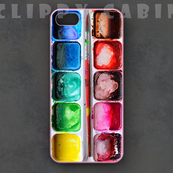 Watercolors iPhone Case, Watercolor Palette iPhone Case, Paints iPhone Case, iPhone 5 Case iPhone 5s Case iPhone 5c Case iPhone 4 Case 4s