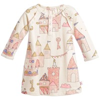 Baby Girls Ivory & Pink Castle Jersey Dress