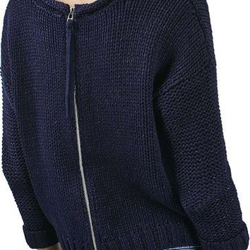 Topshop Back Zip Tube Knit Slouchy Sweater | Nordstrom