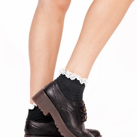 Alexa Black Brogue Platform