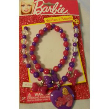 Girls Play Jewelry Bracelet Necklace Set Dora Barbie Disney Fairies Princess Kid