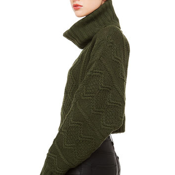 Rehab Cozy Up Knit Sweater - Olive