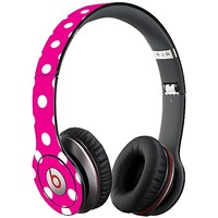 White Polka Dot on Hot Pink Skin  for the Beats Solo HD by skinzy.com