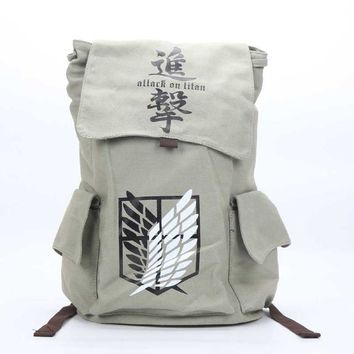 Anime Backpack School kawaii cute Naturo Totoro Attack on Titan Tokyo Ghoul Death Note Cosplay Backpack Large Capacity Travel School Book Bag Rucksack AT_60_4