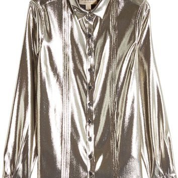 Metallic Lamé Blouse - Burberry | WOMEN | KR STYLEBOP.COM