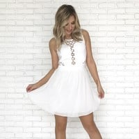 Aliso Laced Dress in White