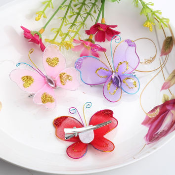 Chiffon Butterfly Baby Hairpins