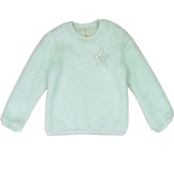 Mint Green Cozy Pullover