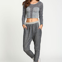 Contrast Terry Knit Jogger Pants
