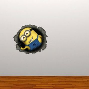 Full Colour Despicable Me Minion v4 Wall Sticker Decal Kids Bedroom Decoration