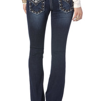 Miss Me Carnival Lights Flap Boot Cut Jeans