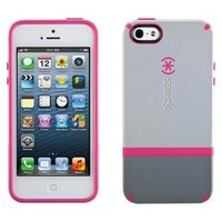 Speck CandyShell Flip Case for iPhone® 5 - Pebble Grey/Gravel/Raspberry Pink