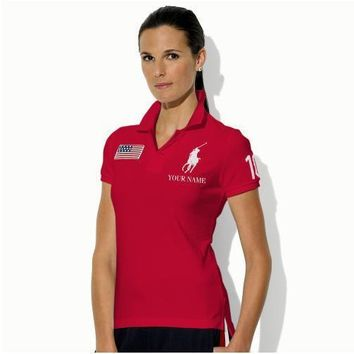 NEW POLO RALPH LAUREN SHIRT WOMEN SHORT SLEEVE T-SHIRT SIZE: S-XL-6