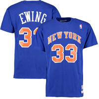 Patrick Ewing New York Knicks Mitchell & Ness Hardwood Classics Name & Number T-Shirt - Royal