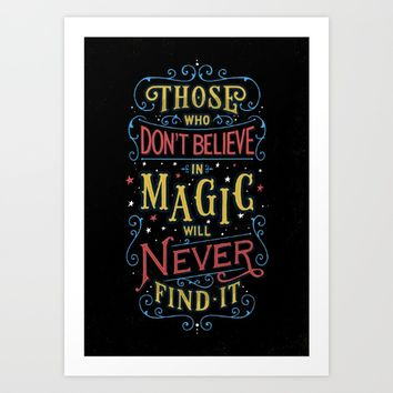 Magic – Roald Dahl Quote Art Print by Tobias Saul